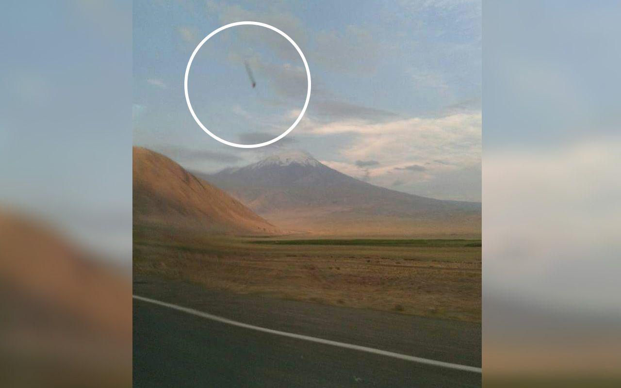 Kızı tesadüfen göktaşı düşerken resmini çekti! Iğdır'da arayıp buldu soluğu noterde aldı