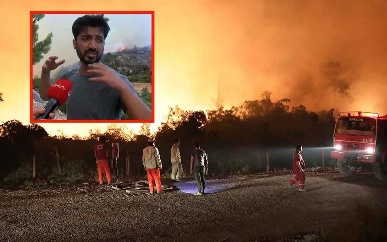 Şarkıcı Yusuf Güney Manavgat yangınında görevlilere kızdı