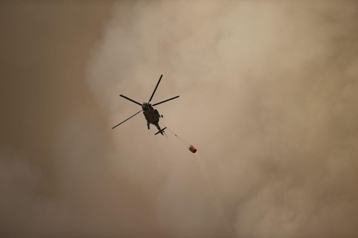 Muğla Milas'ta yangının tehdit ettiği 2 mahalledeki vatandaşlar tahliye edildi