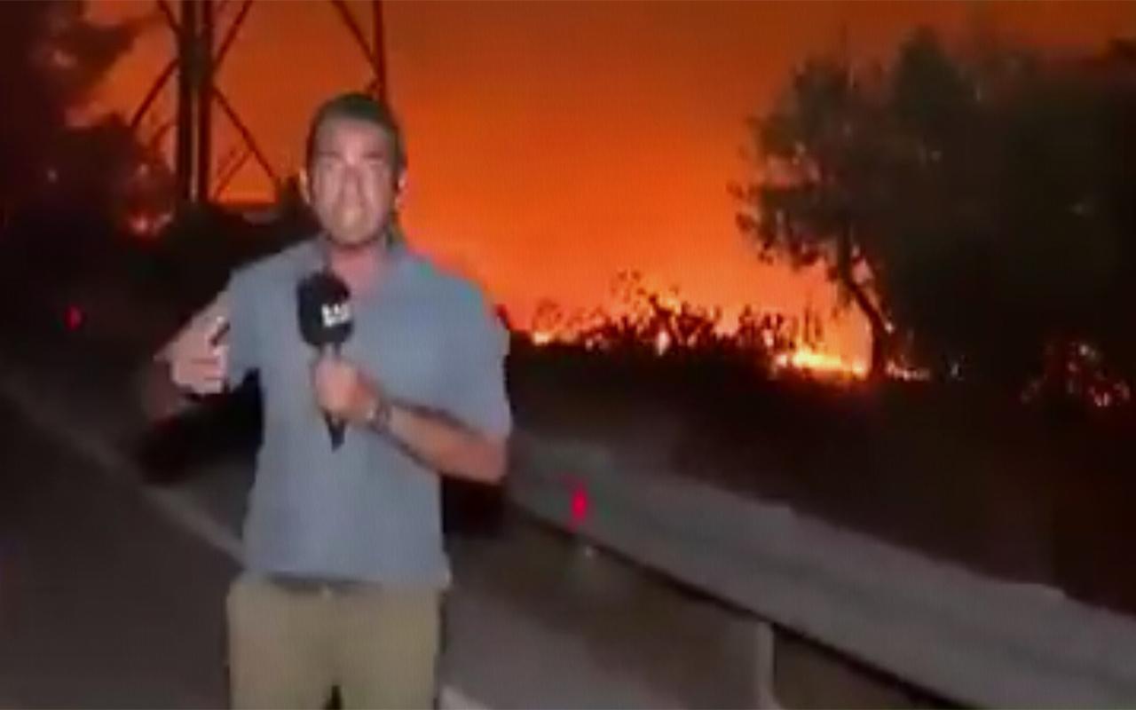 Haber Global canlı yayındayken termik santralde patlama