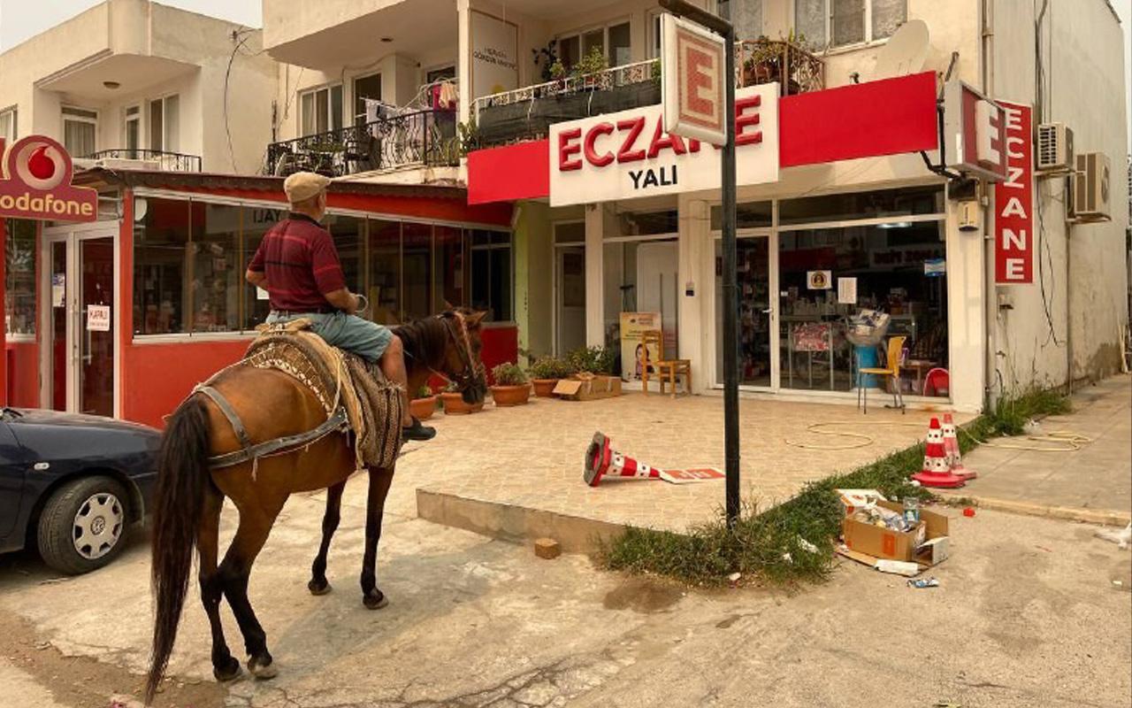 Milas Ören boşaltıldı! Atıyla geldi o halde görünce geri döndü