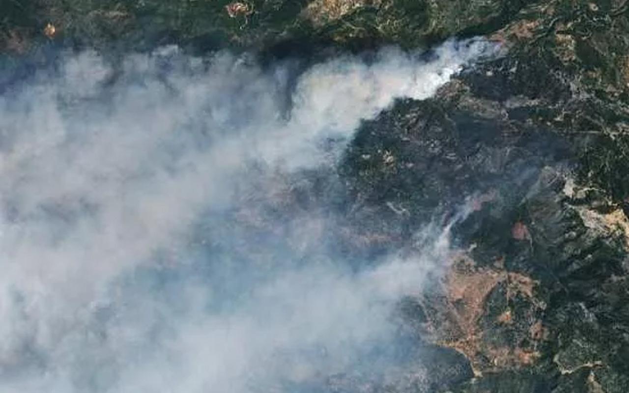 NASA, Türkiye'de orman yangınlarının uydu fotoğraflarını paylaştı