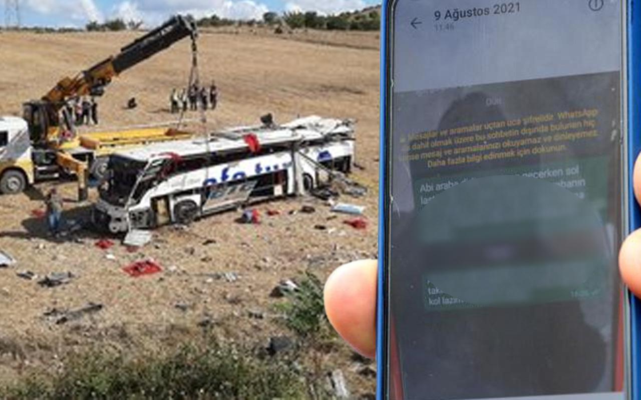 Balıkesir'deki otobüs kazasında şoförün dinlenmeden sefere çıkarıldığı iddiası
