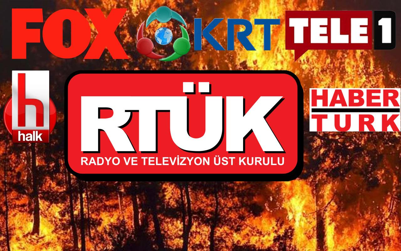 RTÜK affetmedi! Fox Halk TV KRT Habertürk Tele 1'e orman yangını cezası yağdı