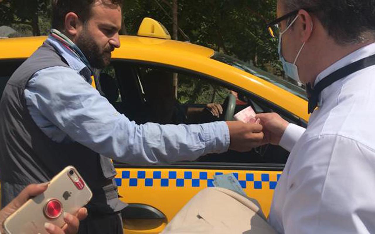 Taksim'den Maçka'ya 1 kilometrelik yola 200 lira istedi taksici bu kez gazeteciye tosladı