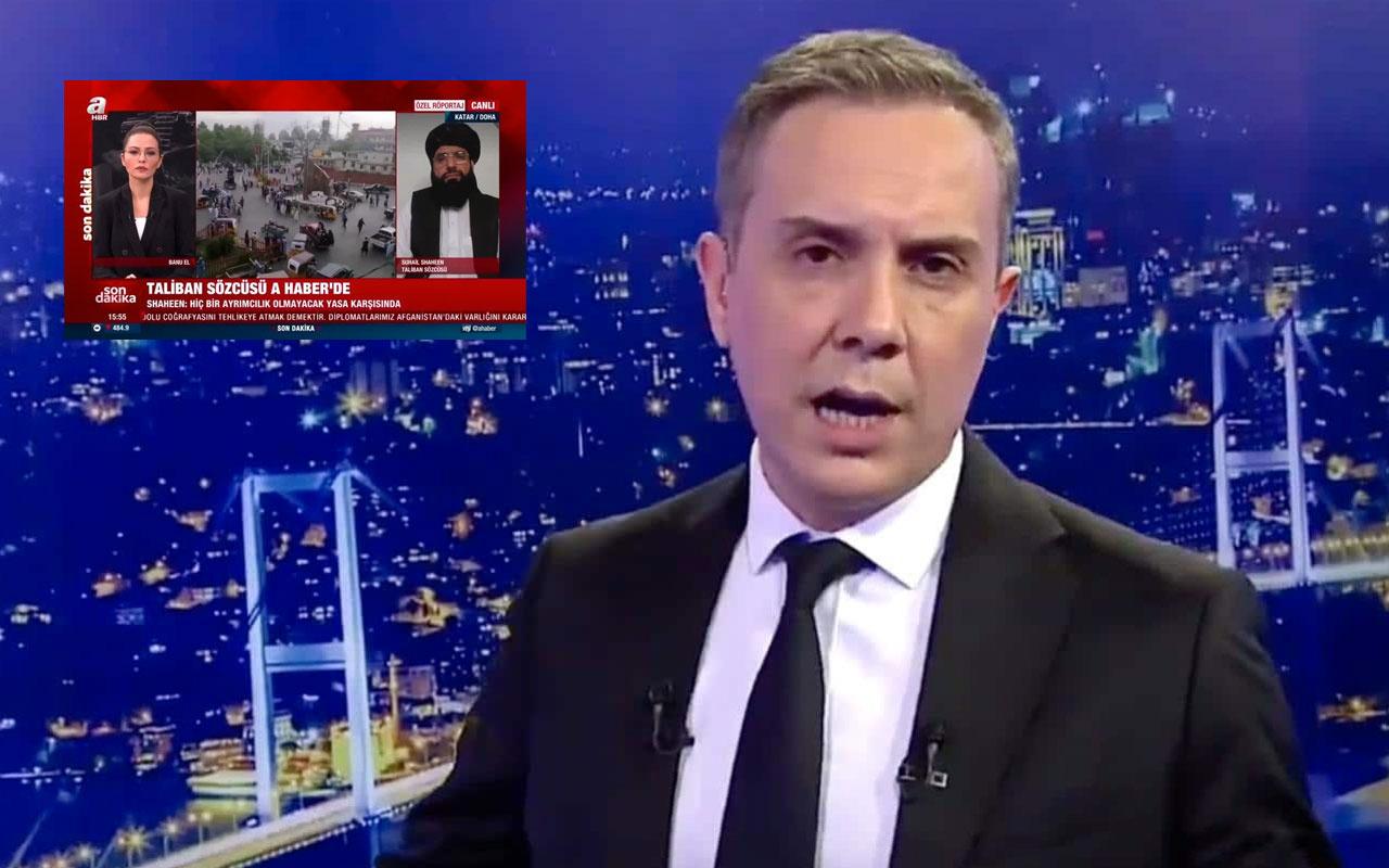 Melih Altınok'tan A Haber'in Taliban sözcüsü ile ilgili yayınına gelen eleştirilere yanıt