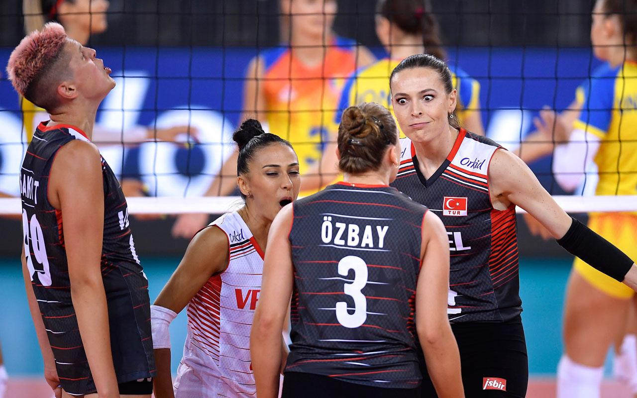 A Milli Kadın Voleybol Takımı Avrupa Voleybol Şampiyonası'na galibiyetle başladı