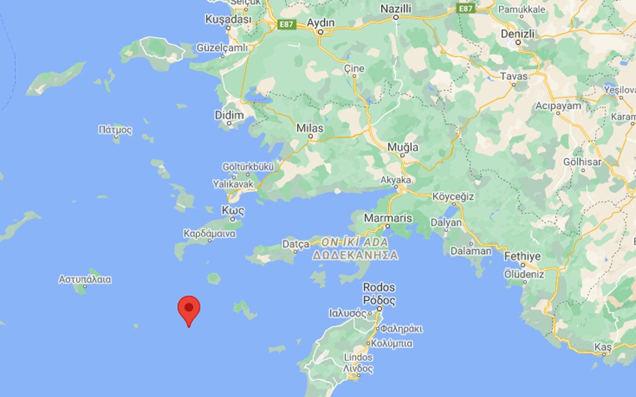 Muğla Datça açıklarında 4,2 büyüklüğünde deprem