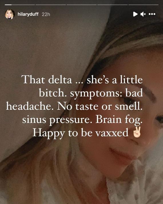 Dünyaca ünlü oyuncu Hilary Duff aşıdan sonra 'delta varyantı'na yakalandı!
