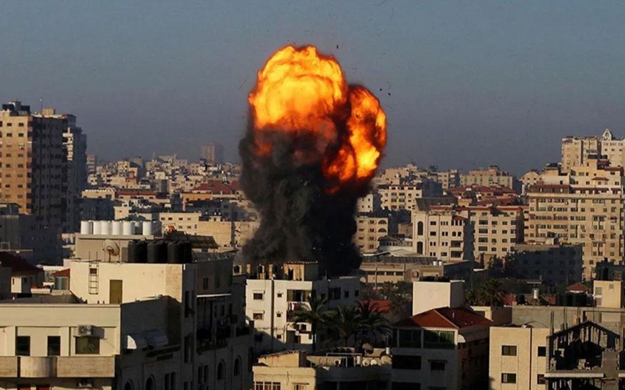 İşgalci İsrail ordusundan Gazze'ye hava saldırısı!