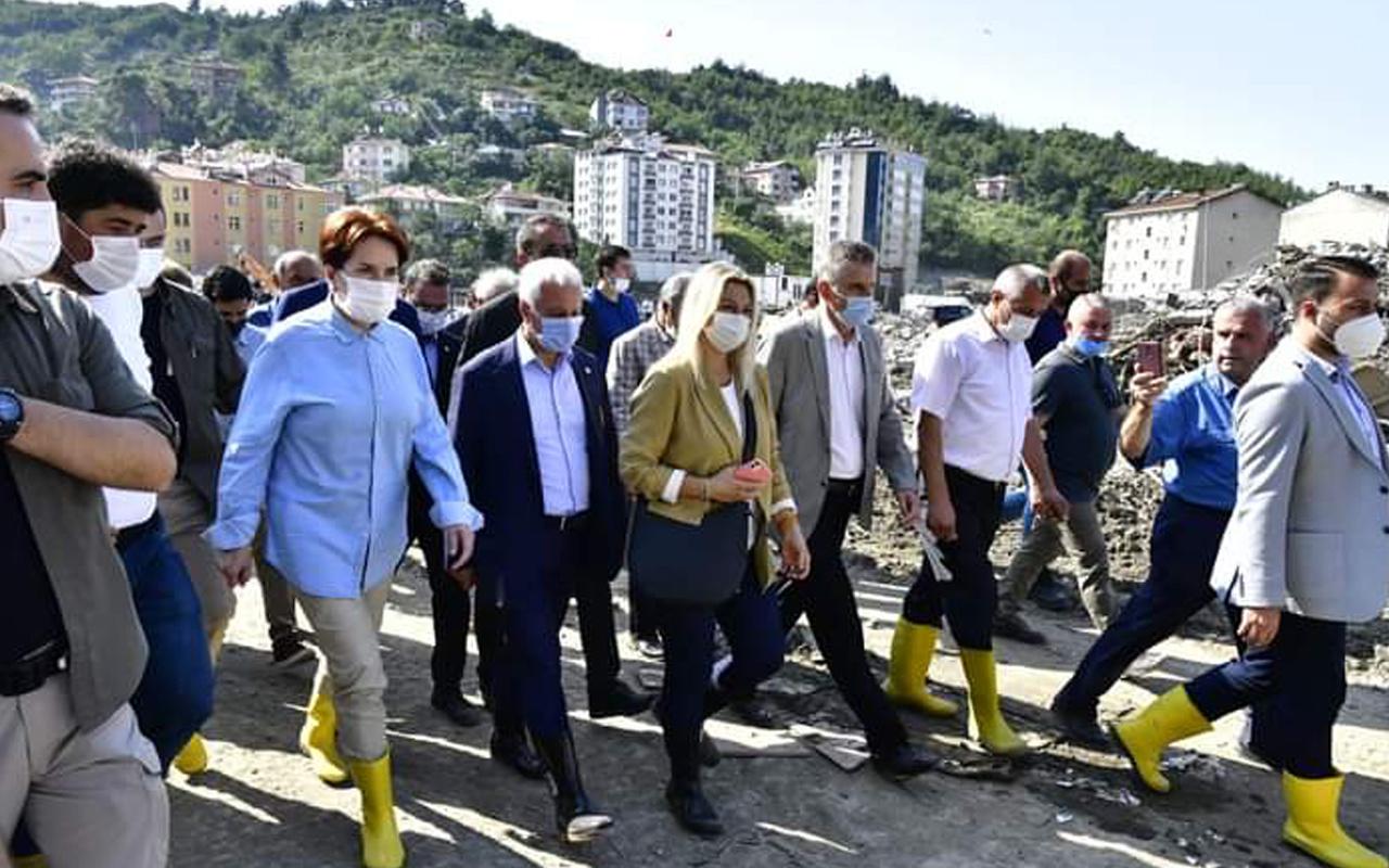 Meral Akşener afet bölgesi Bozkurt'ta: Borçlar silinsin ya da ötelensin teklifi