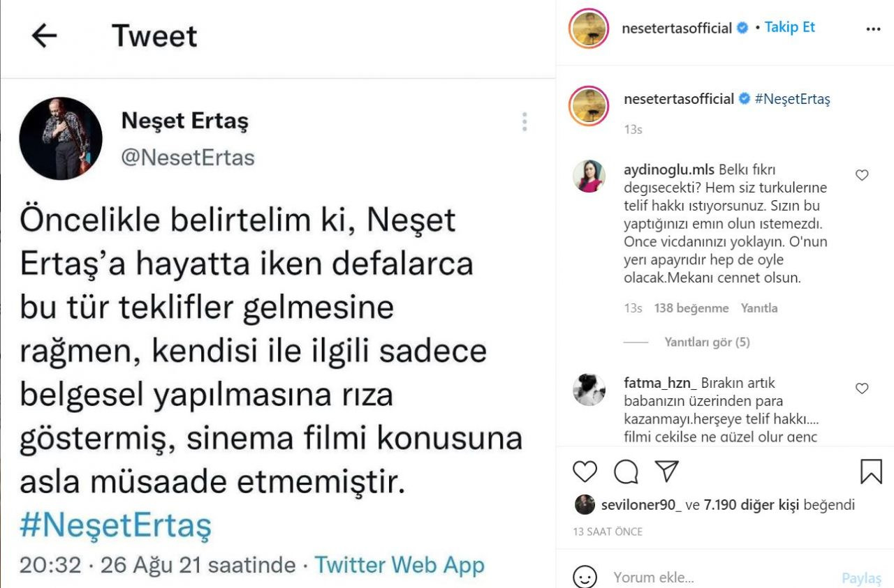 Neşet Ertaş'ın hayatını konu alan filme ailesi dava açıyor!