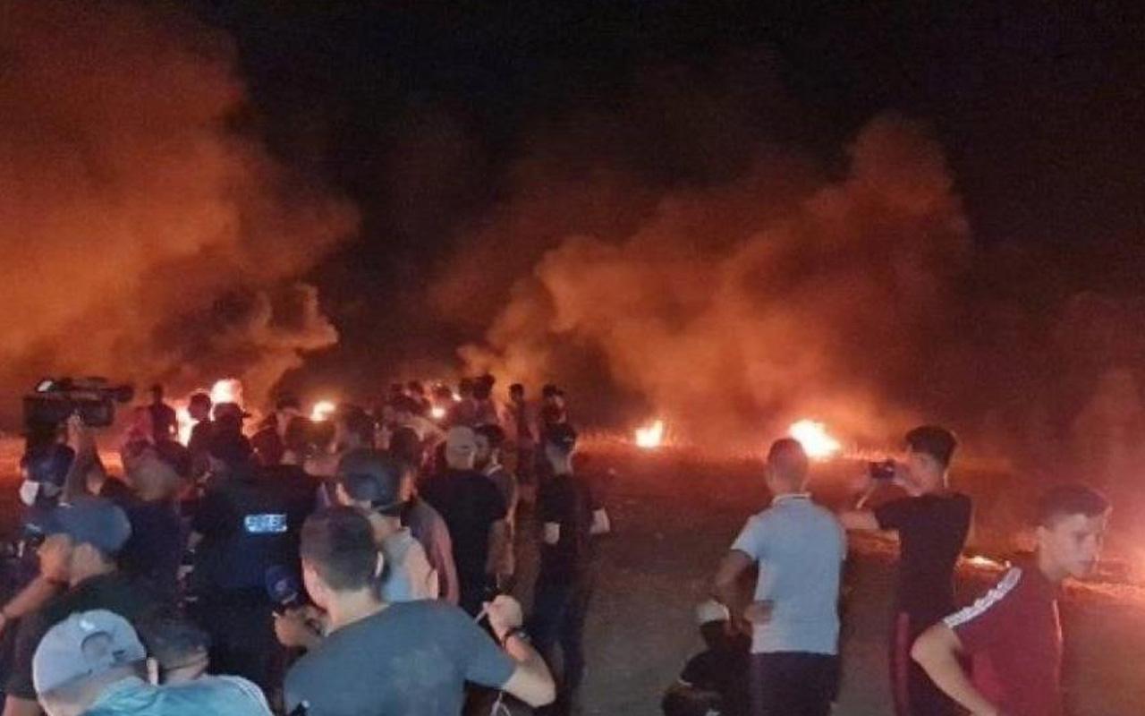 İsrail güçleri Gazze'de protestoya müdahale etti: 2'si ağır 11 kişiyi yaralandı