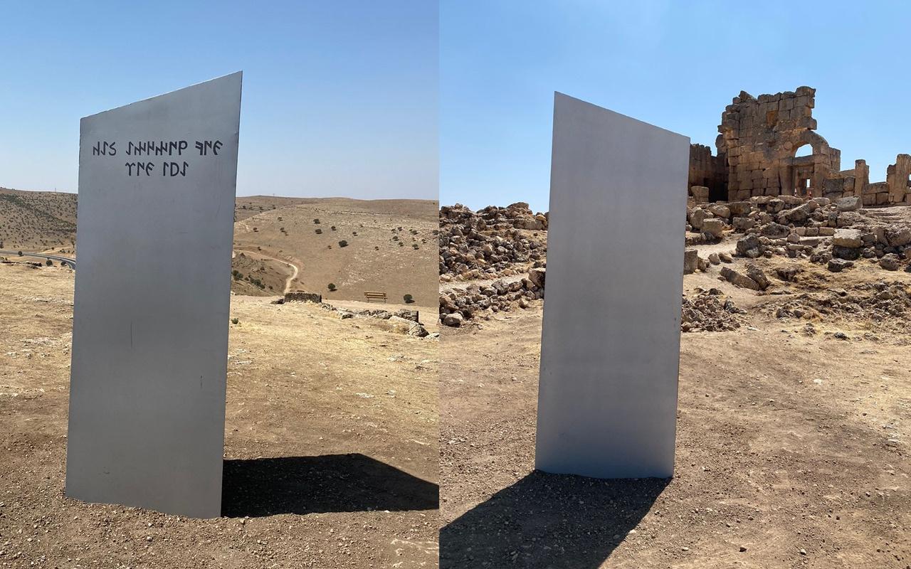 Gizemli monolit şimdi de Diyarbakır'da görüldü