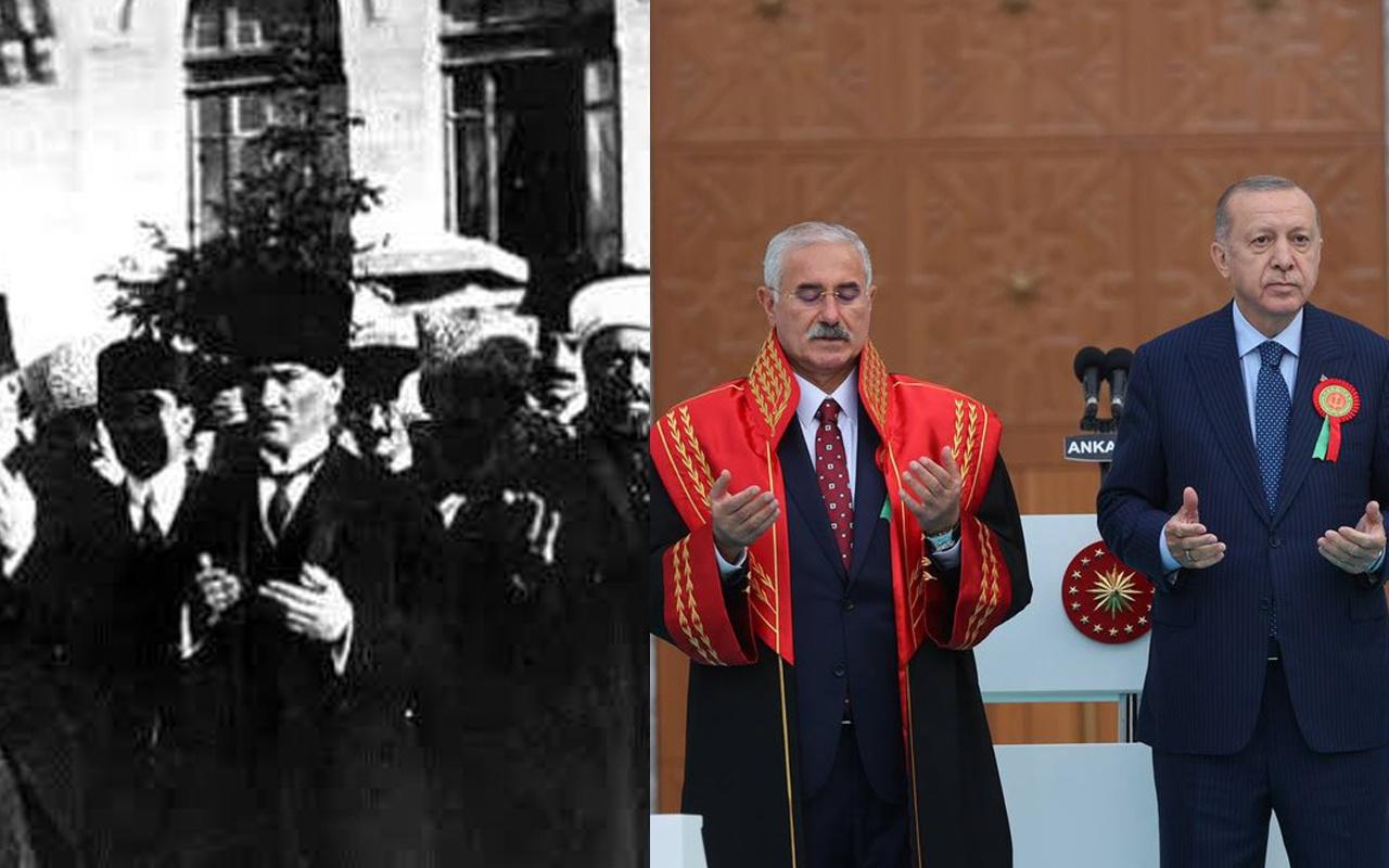 Fahrettin Altun'dan Cumhurbaşkanı Erdoğan'ın o fotoğrafına eleştireye Atatürk'lü yanıt
