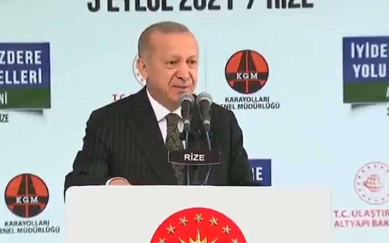 Cumhurbaşkanı Erdoğan: Ne kadar sol varsa komünist varsa alıp buraya geliyorlar
