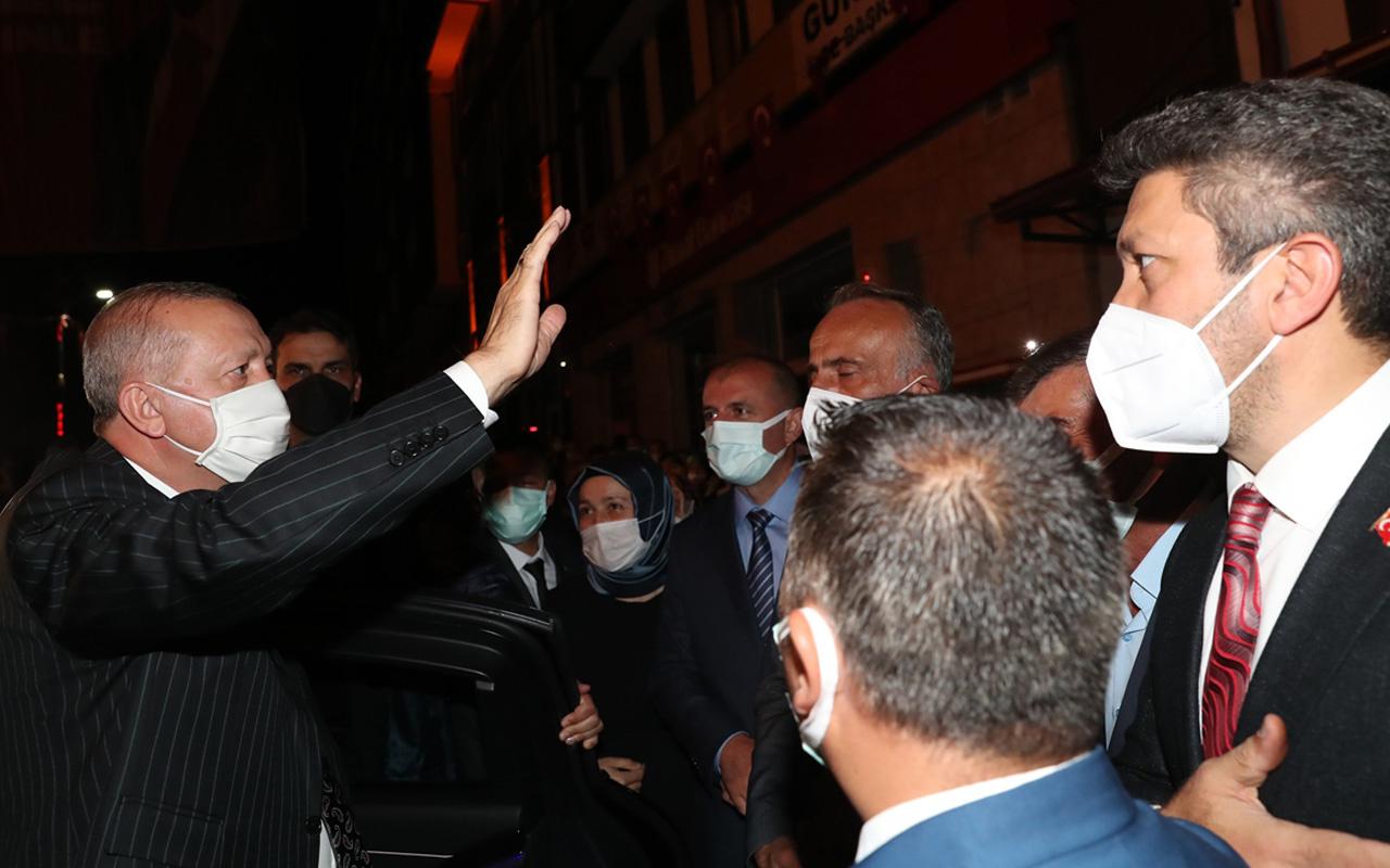Cumhurbaşkanı Erdoğan'a, memleketi Rize'de hemşehrilerinden yoğun ilgi
