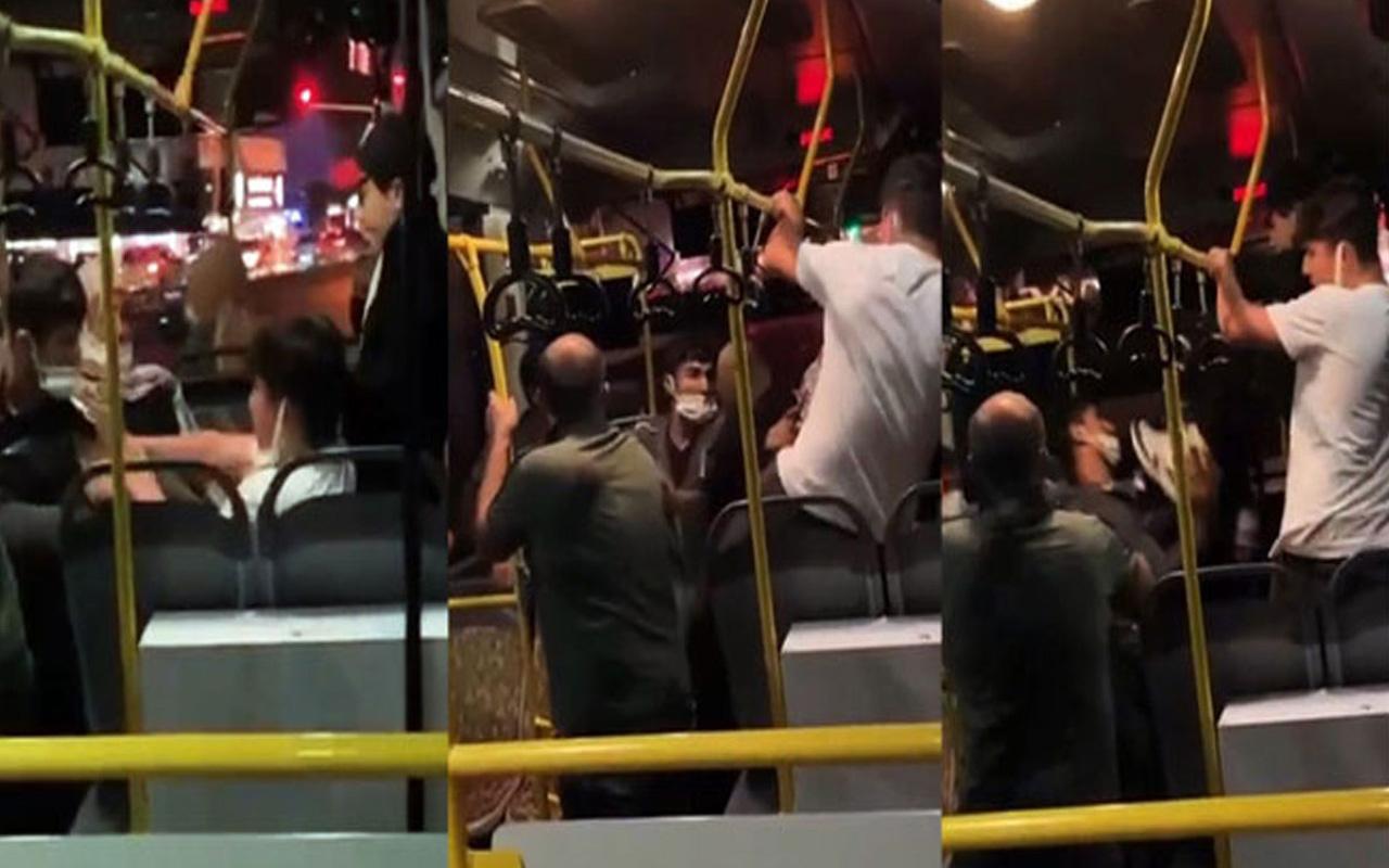 Sakarya'da otobüste ortalık karıştı! Tekme ve yumruklar havada uçuştu
