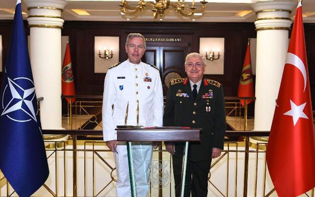 Orgeneral Yaşar Güler, NATO Askeri Komite Başkanı ile görüştü