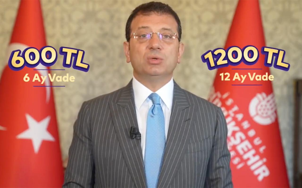 İstanbullulara 1200 lira nakit avans desteği... Ekrem İmamoğlu açıkladı