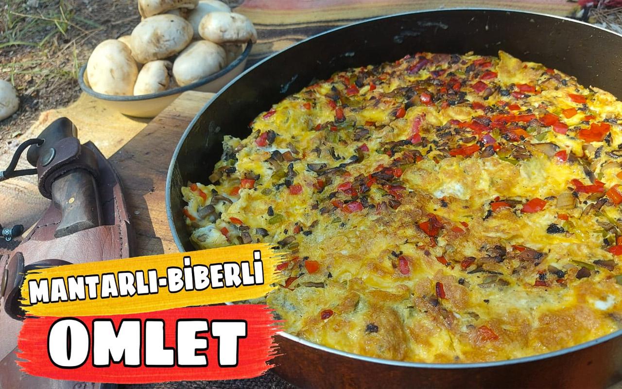 Mantarlı biberli omlet nasıl yapılır efsane lezzet!