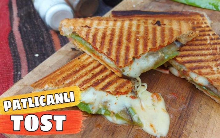 Patlıcanlı tost nasıl yapılır tadına doyamayacaksınız!