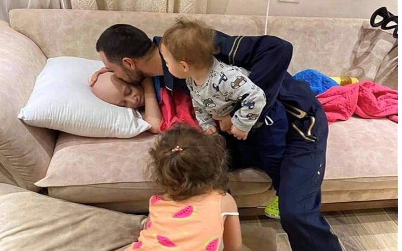 İsrail'in gözaltına aldığı Filistinli babanın kanser çocuğuyla vedalaştığı an!