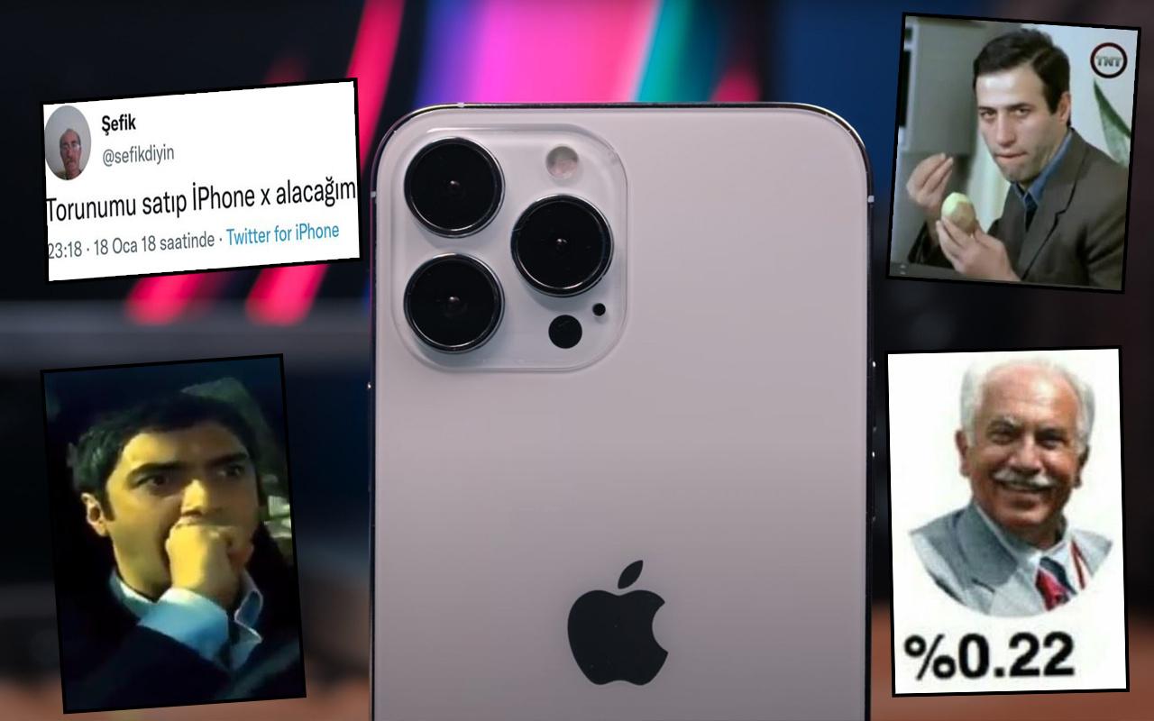 iPhone 13'ün fiyatını duyan inanamadı! Twitter yıkıldı: Torunumu satıp alacağım