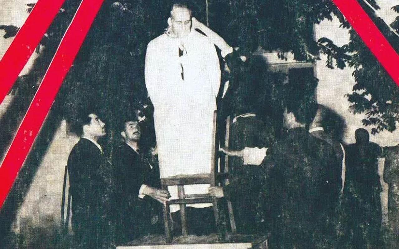 Fatin Rüştü Zorlu idam sehpasında sandalyeyi kendisi itti