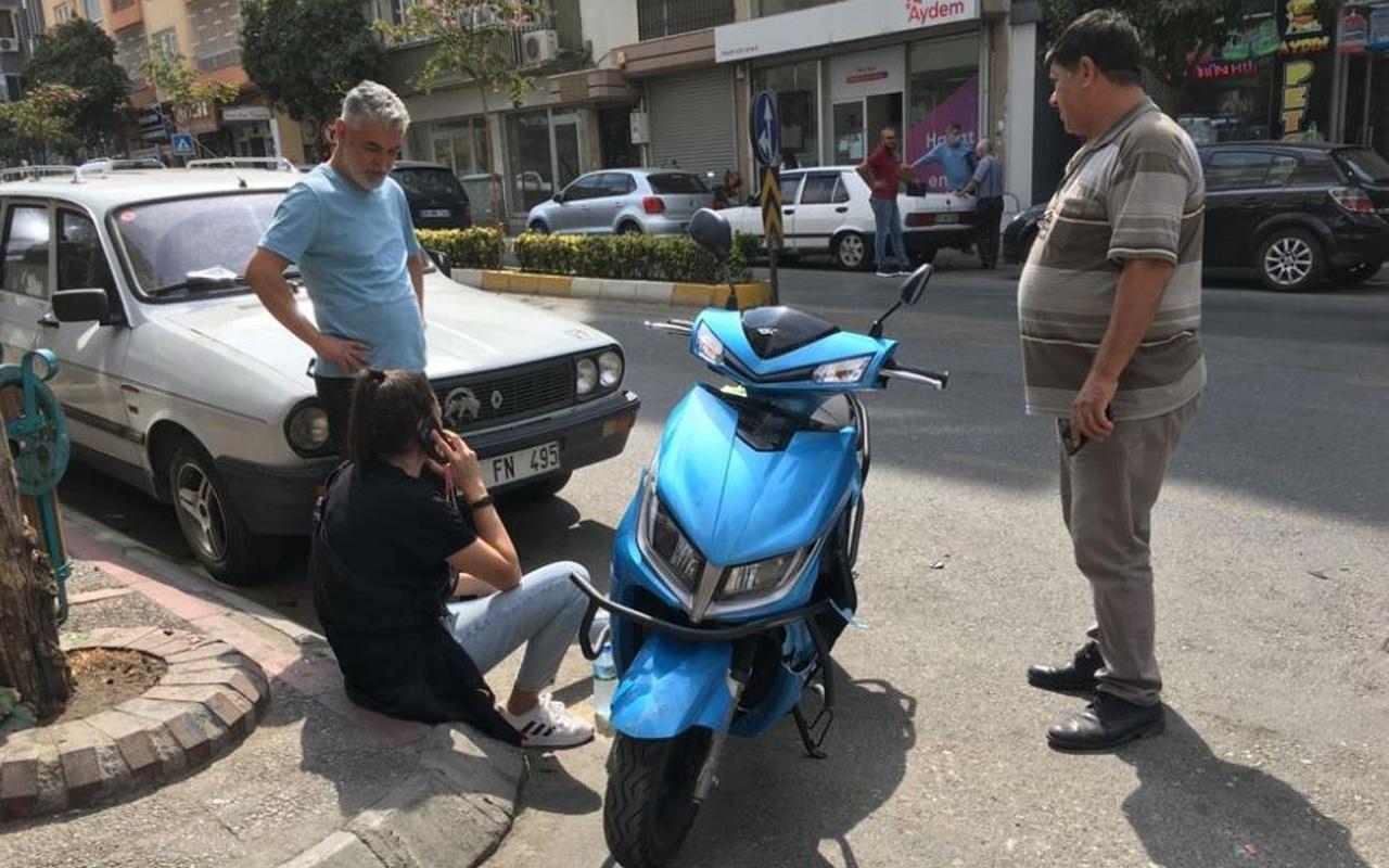 Aydın'da kaza yapan genç kız gözyaşlarına boğuldu