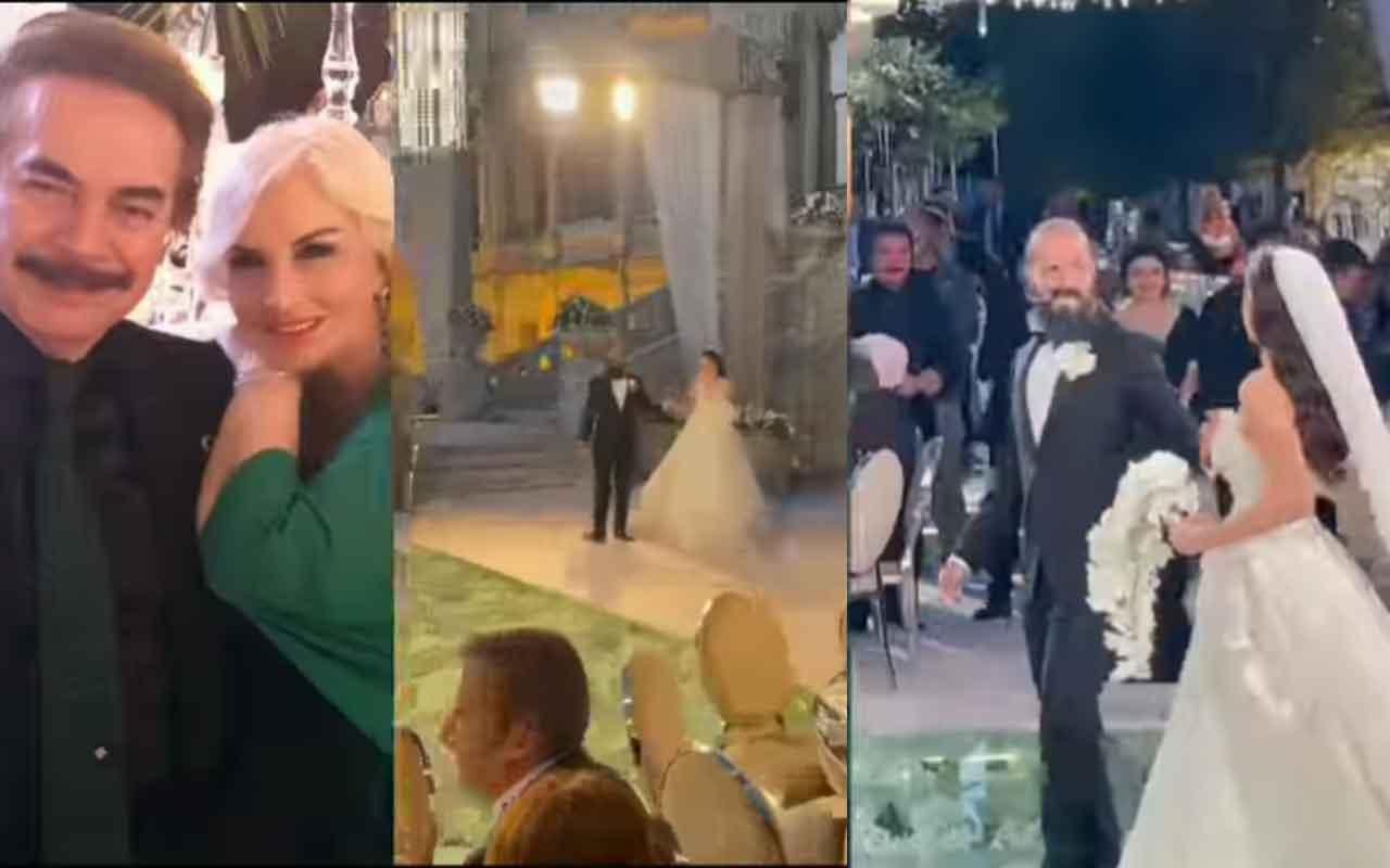 Orhan Gencebay'ın oğlunun düğününde ünlü çiftlerden romantik dans