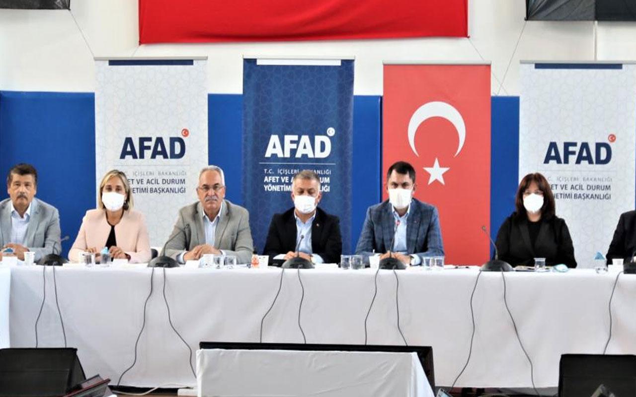Bakan Murat Kurum: Muğla ve Manavgat'ta bin 100 binanın yıkım çalışmasını tamamladık