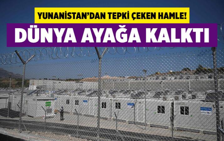 Yunanistan'da insan hakları örgütlerinin tepki gösterdiği sığınmacı kampı açıldı