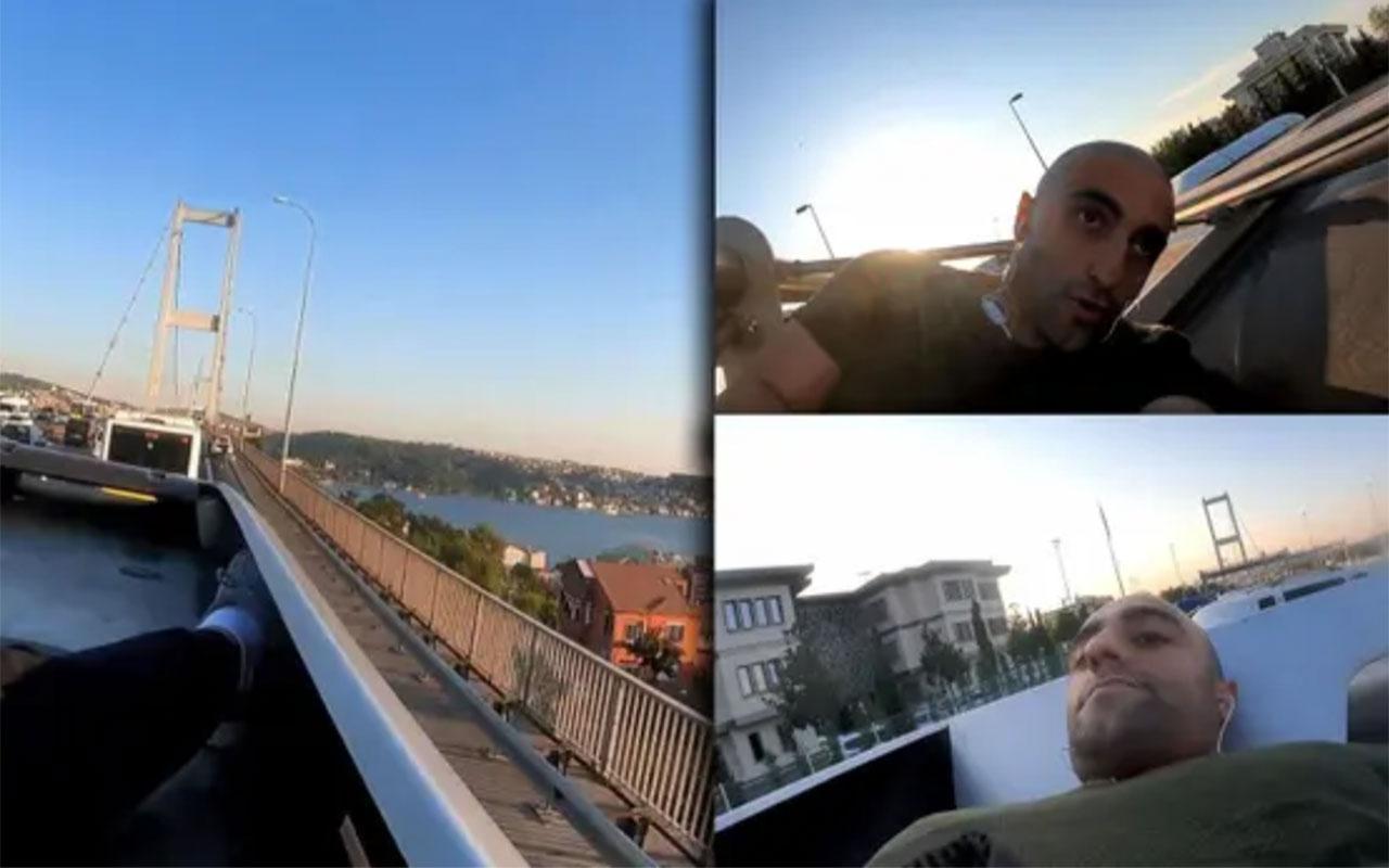 Çılgın youtuber Yunus Emre Özer bu kez de Avrupa'dan Asya kıtasınametrobüsün üstünde geçti