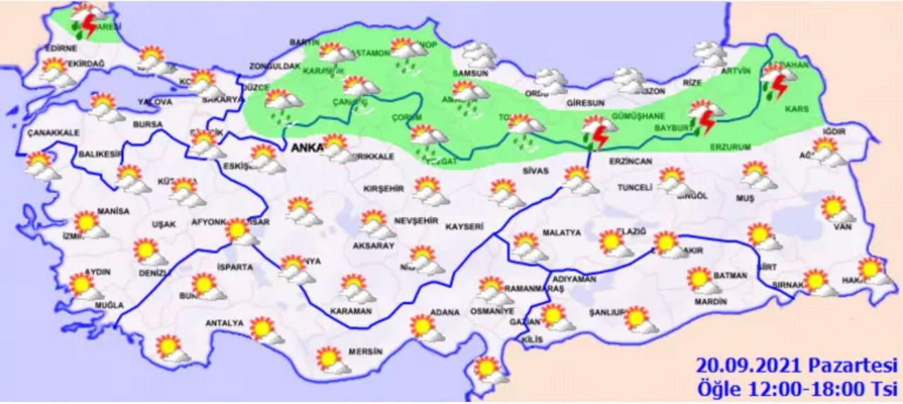 Meteoroloji harita yayınlayarak uyardı! Sıcaklıklar aniden düşüyor işte il il hava durumu