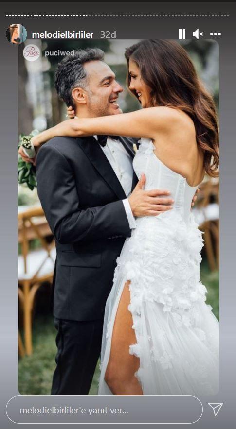Arda Türkmen ve Melodi Elbirler evlendi efsane düğünde gelinlik yanıyordu!