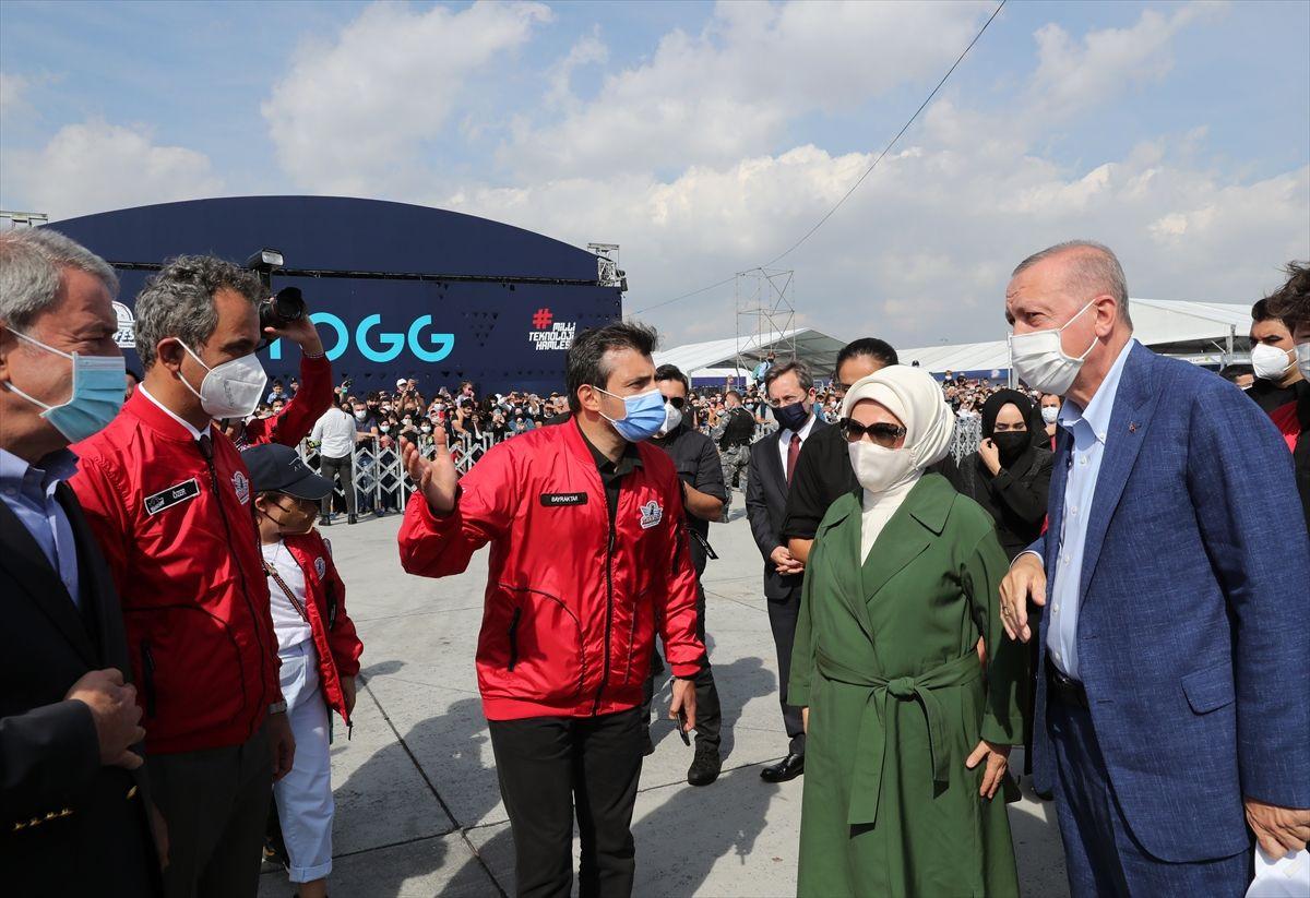 Cumhurbaşkanı Erdoğan Aziz Sancar ile birlikte izledi! TEKNOFEST'ten özel kareler