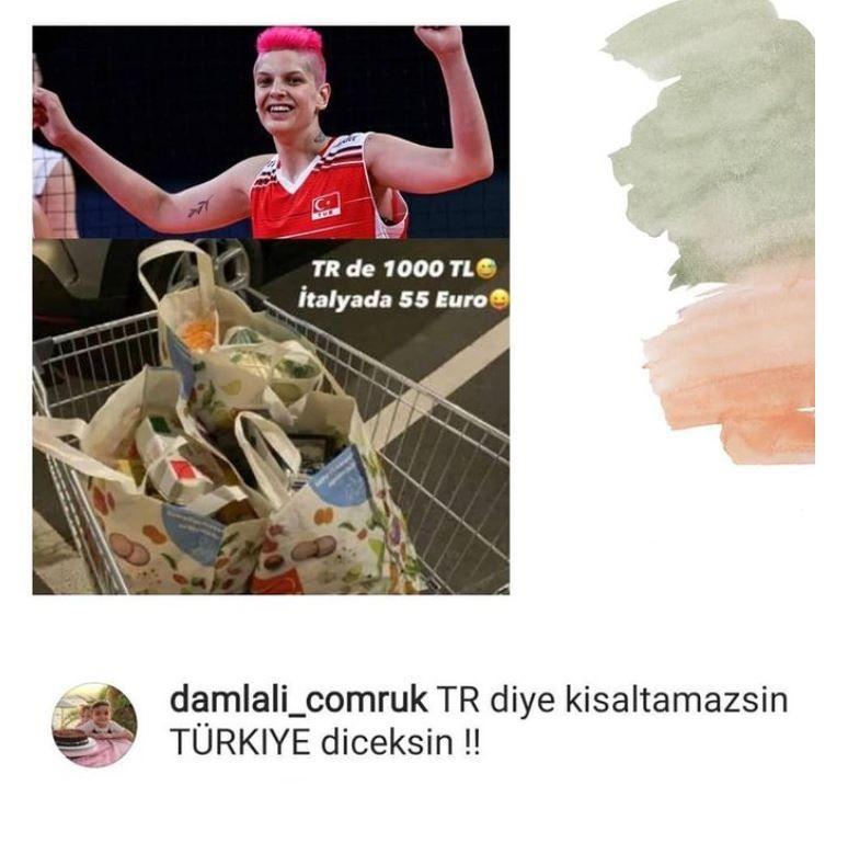 Ebrar Karakurt'tan flaş market paylaşımı: Türkiye'de 1000 lira, İtalya'da 55 euro