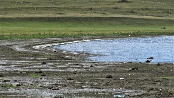 Korkutan görüntü! Çıldır Gölü'nde sular 10 metre çekildi