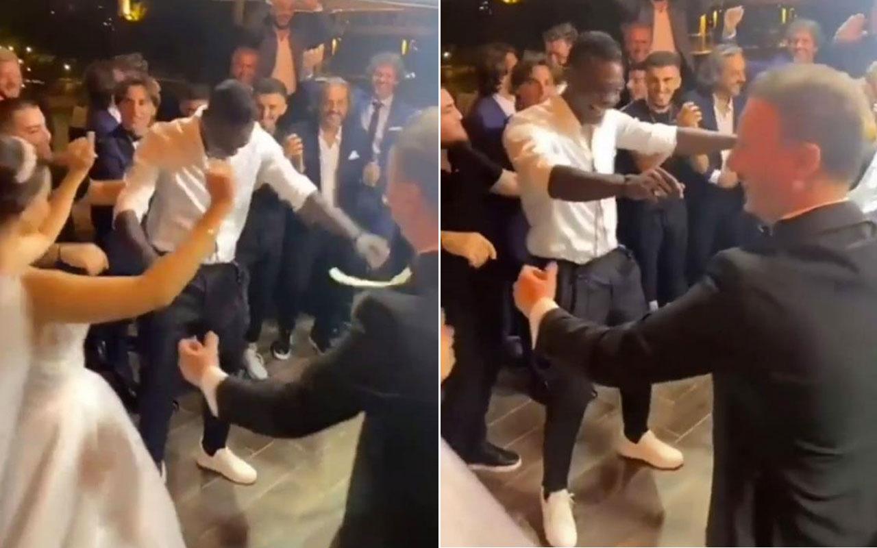 Adana Demirsporlu Balotelli, düğünde halay çekip davul eşliğinde oynadı