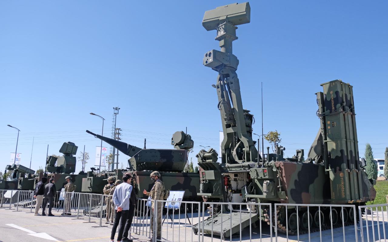 Hisar A+ hava savunma sistemi Konya'da görücüye çıktı