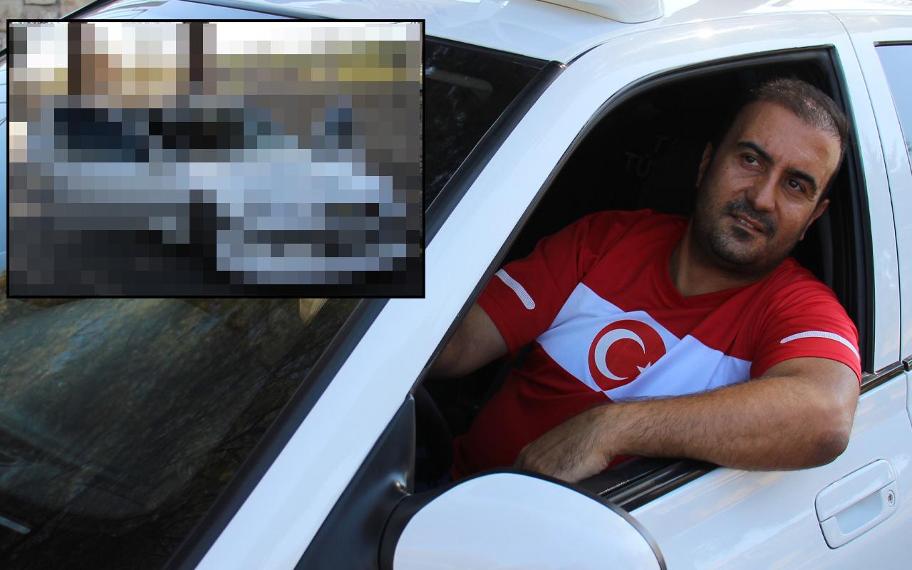 Aydın'da gören fotoğrafını çekiyor! Taksi filminden etkilenip aynısını yaptırdı: Hayalimi gerçekleştirdim