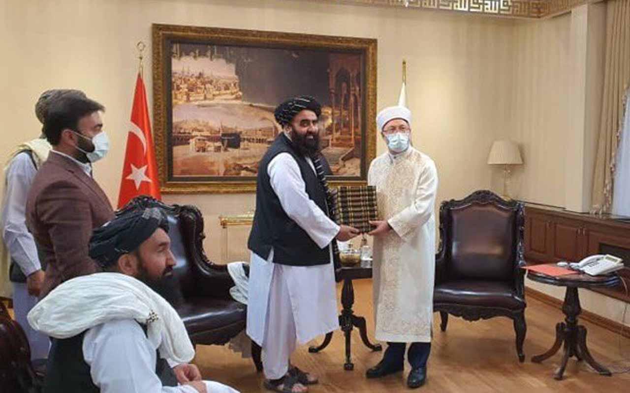 Diyanet İşleri Başkanı Ali Erbaş Taliban heyetiyle görüştü