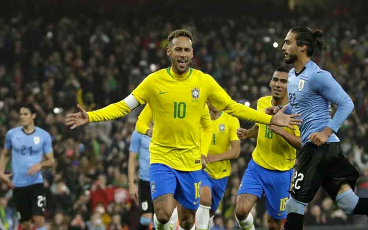 Dünya kupası eleme maçında Brezilya Uruguay'ı farklı geçti