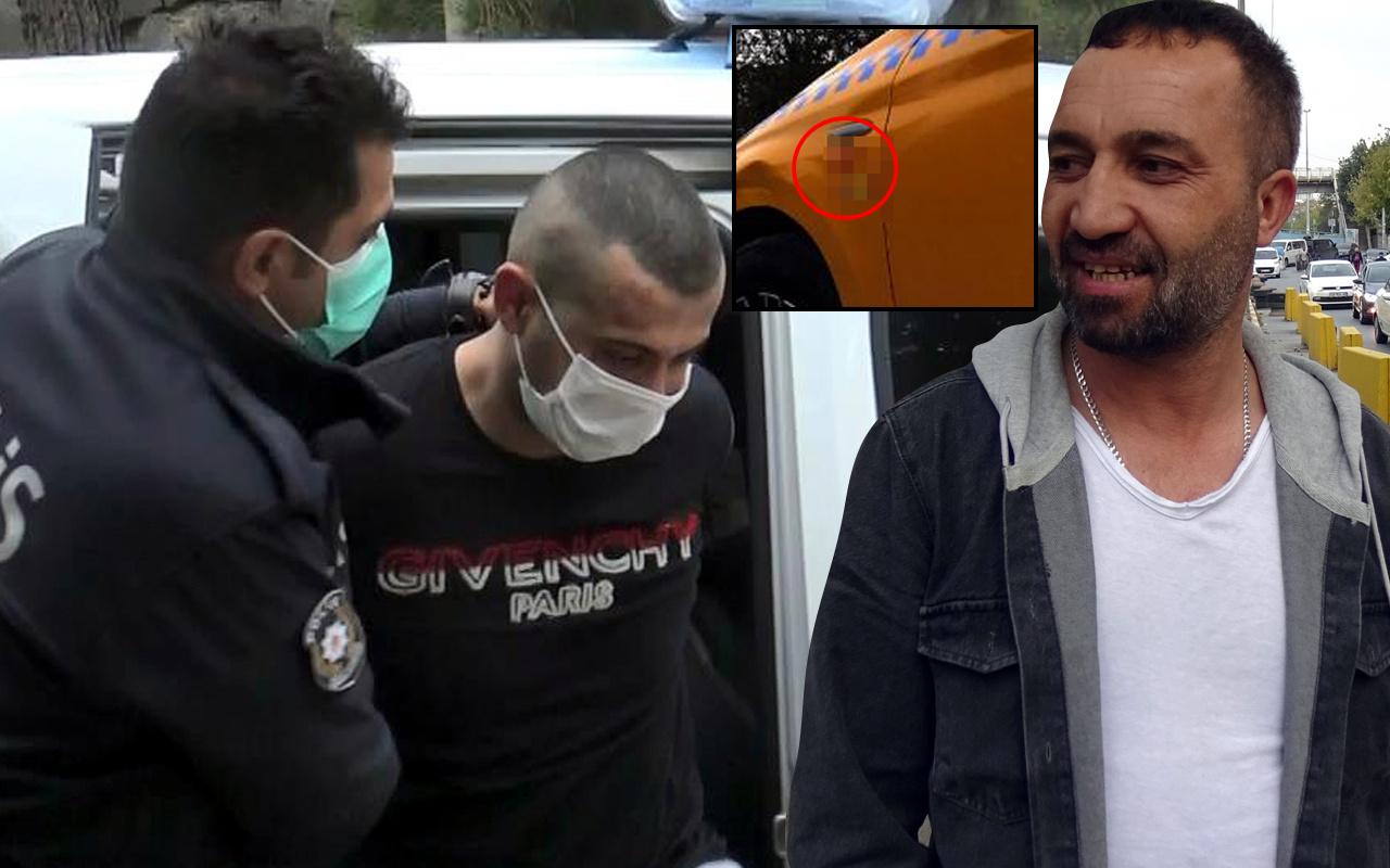 İstanbul'da yolcu olarak bindiği taksiyi çalıp taksicilik yaptı! Kapısına bakın ne yazdı