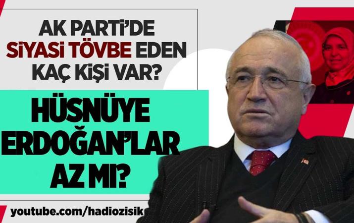 AK Parti'de siyasi tövbe eden kaç kişi var?
