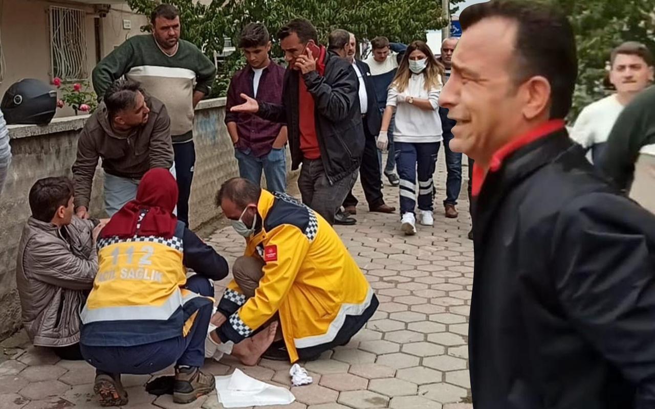 Bursa'da kahreden tesadüf! Olay yerinden geçerken görünce gözyaşlarına boğuldu