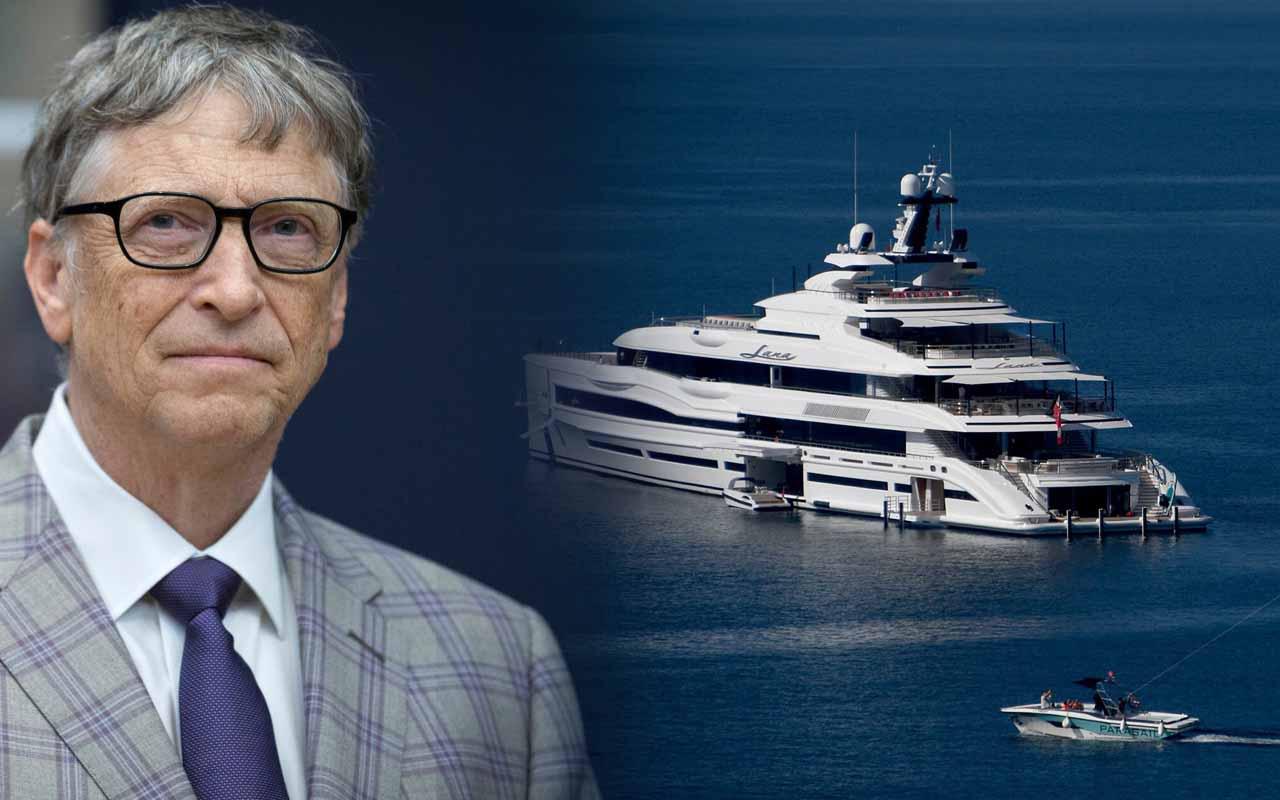 Bill Gates'den Türkiye ziyareti İkinci kez hacı oldu! Görkemli süper yatı görüntülendi