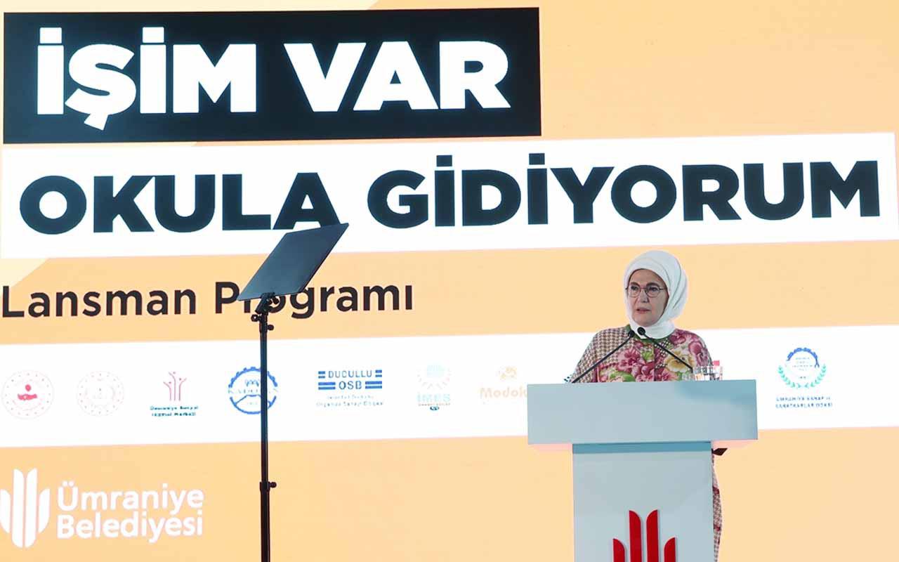 Emine Erdoğan 'İşim Var Okula Gidiyorum' projesini tanıttı