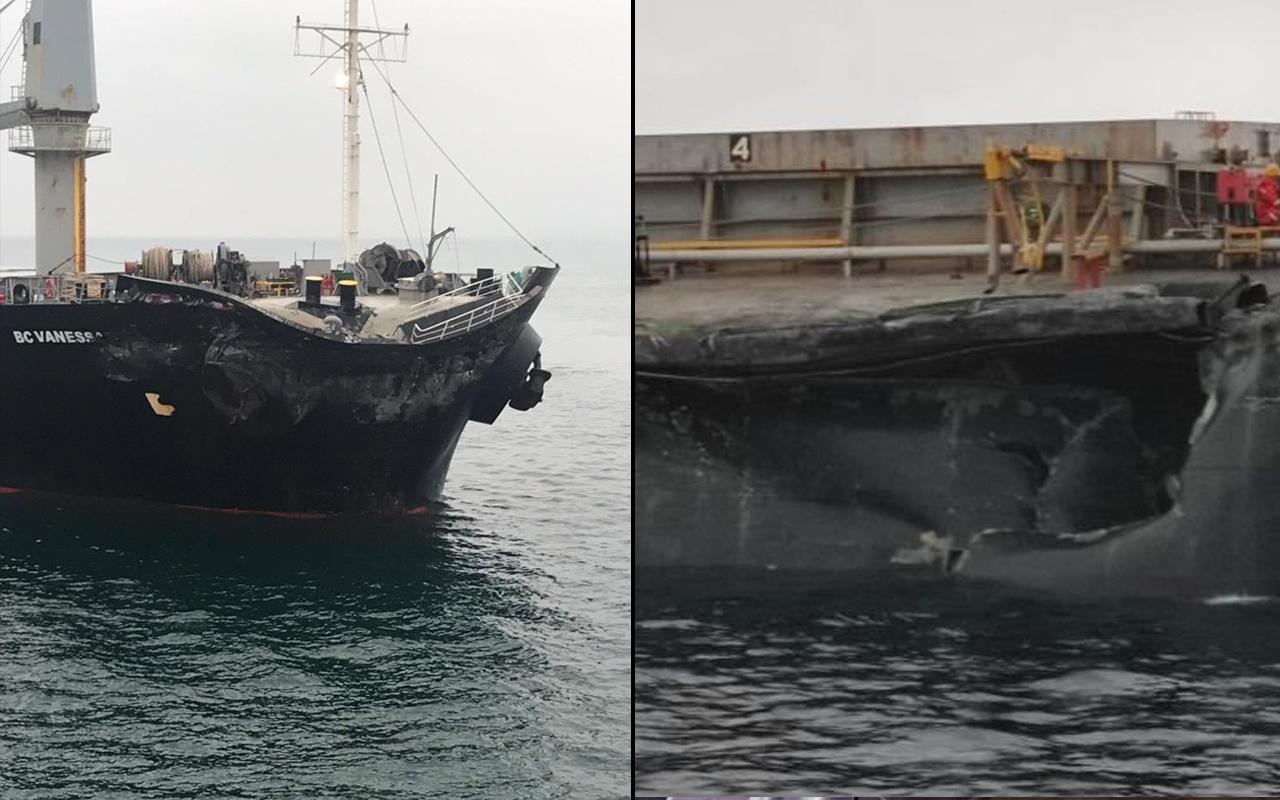 Çanakkale'de gemi kazası! 2 yük gemisi çarpıştı: Ekipler harekete geçti